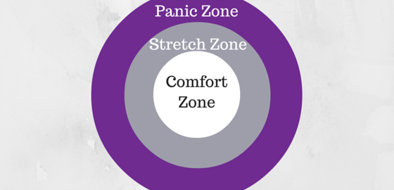Comfort Zone, Stretch Zone, panic Zone diagram