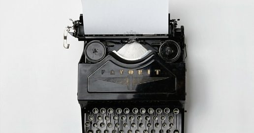 Blogging Challenge Update - picture of typewriter